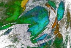 Pintura pelo óleo em uma lona, pintura Fotos de Stock Royalty Free