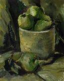 Pintura Pinturas de aceite de la imagen Peras Todavía vida 1 Foto de archivo libre de regalías