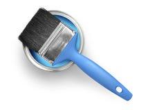 A pintura pode e escova Fotografia de Stock