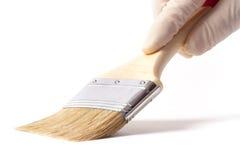 Pintura por el cepillo Fotografía de archivo