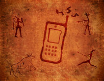 Pintura prehistórica stock de ilustración