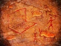 Pintura prehistórica Imagen de archivo libre de regalías