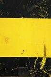 Pintura preta e amarela Imagens de Stock Royalty Free