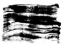 A pintura preta a mão livre do vetor, cobre o acrílico ilustração stock