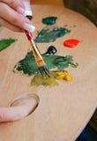 Pintura que ase de la gama de colores Imágenes de archivo libres de regalías