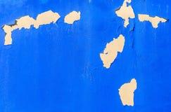 Pintura que raspa en la pared foto de archivo libre de regalías