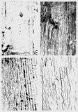 Pintura rachada e texturas de superfície de madeira ilustração royalty free