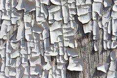 Pintura rachada velha na textura de madeira Imagem de Stock Royalty Free