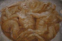 Pintura religiosa en Roma fotografía de archivo libre de regalías