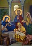 Pintura religiosa icónica - Chipre turco foto de stock royalty free