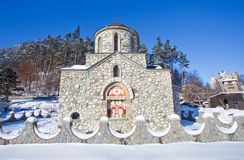 Pintura religiosa na fachada da igreja de Templar Imagem de Stock