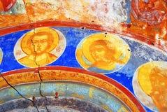 Pintura religiosa velha Igreja do Saint Nicolas em Yaroslavl, Ru Imagem de Stock