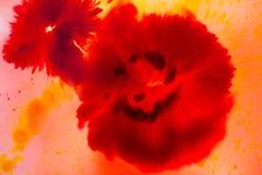 Pintura roja del concepto de la flor para el fondo, suave abstractos y la falta de definición Fotos de archivo libres de regalías