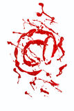 Pintura roja pintada muestra del email Imagen de archivo libre de regalías