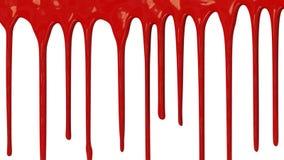 Pintura roja que gotea abajo almacen de metraje de vídeo