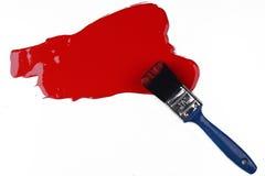 Pintura roja salpicada Fotos de archivo