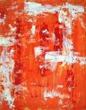 Pintura roja y anaranjada del arte abstracto Fotografía de archivo