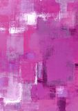Pintura rosada del arte abstracto Imagen de archivo