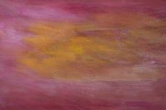 Pintura roxa & alaranjada Imagens de Stock