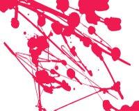 Pintura salpicada roja Foto de archivo