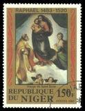 Pintura Sistine Madonna Foto de Stock Royalty Free