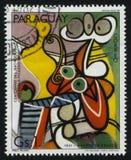 Pintura Stillife de Pablo Picasso fotografía de archivo libre de regalías