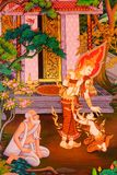 Pintura tailandesa da arte Fotografia de Stock