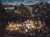 Pintura tailandesa del arte Imagen de archivo libre de regalías