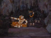 Pintura tailandesa del arte Fotografía de archivo libre de regalías