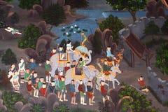 Pintura tailandesa del arte del estilo imagen de archivo