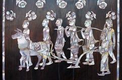 Pintura tailandesa del estilo Fotografía de archivo