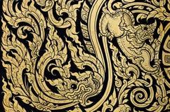 Pintura tailandesa do dragão Fotos de Stock