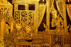 Pintura tailandesa do estilo tradicional Imagem de Stock Royalty Free