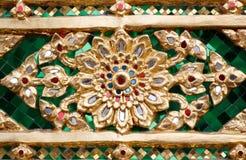 Pintura tailandesa do teste padrão floral Imagens de Stock