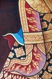 Pintura tailandesa tradicional del arte del estilo de la vendimia Imagen de archivo libre de regalías