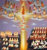 Pintura tailandesa tradicional del estilo Imagenes de archivo