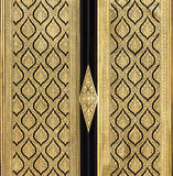 Pintura tailandesa tradicional do estilo na porta Imagem de Stock
