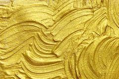 Pintura textured acrílica do ouro Fotos de Stock Royalty Free