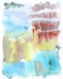 Pintura textured sumário da mão da arte da aquarela Molhe no papel seco Foto de Stock Royalty Free