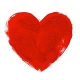 Pintura tirada mão do aquarelle da ilustração do coração da aquarela Fotos de Stock