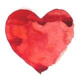 Pintura tirada mão do aquarelle da ilustração do coração da aquarela Fotografia de Stock Royalty Free