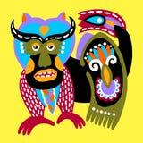 Pintura tradicional étnica ucraniana del animal de la fantasía libre illustration