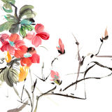 Pintura tradicional chinesa Fotografia de Stock Royalty Free