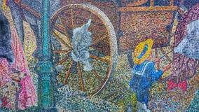 Pintura urbana da arte da rua em uma parede foto de stock royalty free