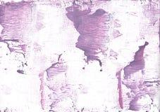 Pintura vaga rosada púrpura de la acuarela Imagen de archivo