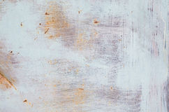 Pintura velha na textura oxidada do metal Imagens de Stock Royalty Free