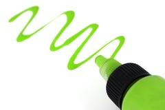 Pintura verde Imagens de Stock
