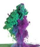 Pintura verde y púrpura Fotos de archivo