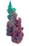 Pintura verde y púrpura Foto de archivo libre de regalías
