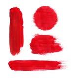 Pintura vermelha Imagem de Stock Royalty Free